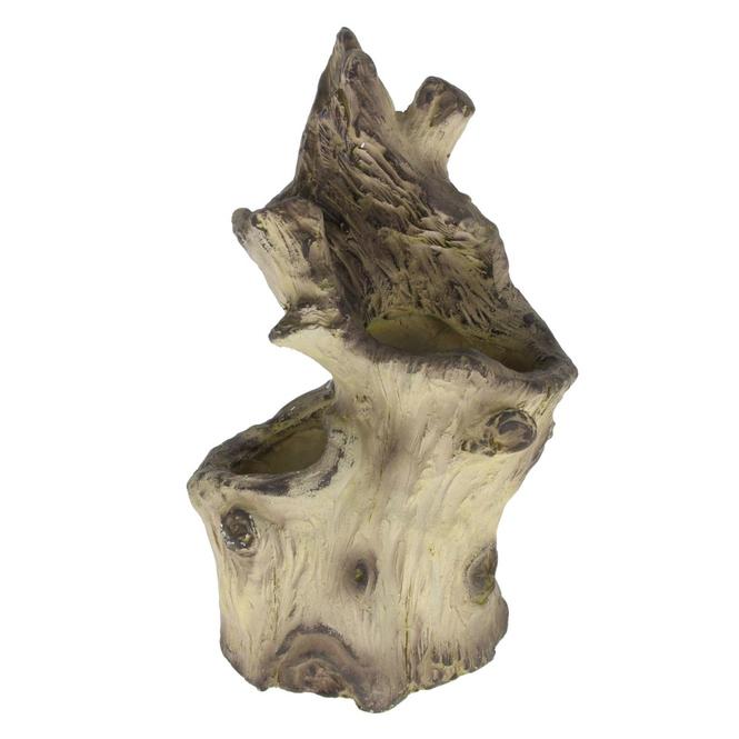Pflanzgefäß - Baumstamm - aus Magnesia - ca. 21 x 28 x 43,5 cm