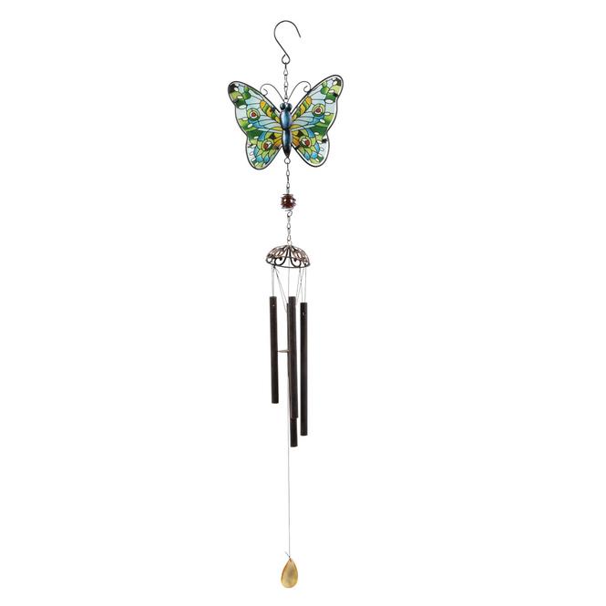 Windspiel - Schmetterling - ca. 17,5 x 2,5 x 88 cm