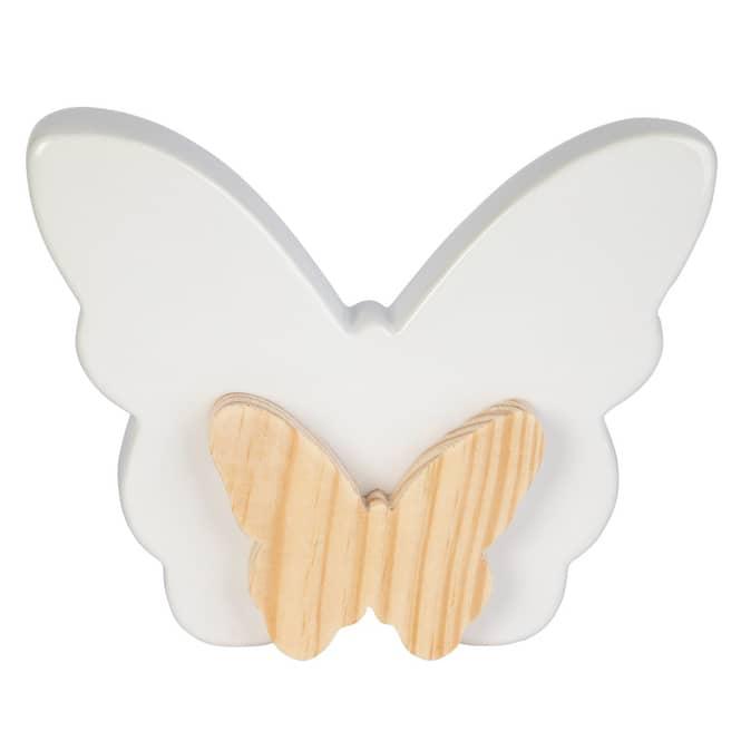 Deko-Schmetterlinge - aus Keramik - ca. 15,5 x 3,5 x 12,5 cm