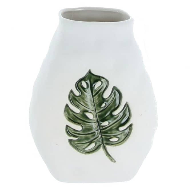 Vase - aus Keramik - ca. 12 x 8,5 x 15,5 cm