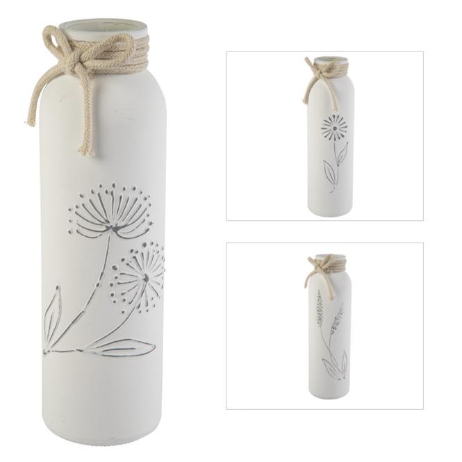 Vase - aus Glas - ca. 5,5 x 5,5 x 19 cm - 1 Stück