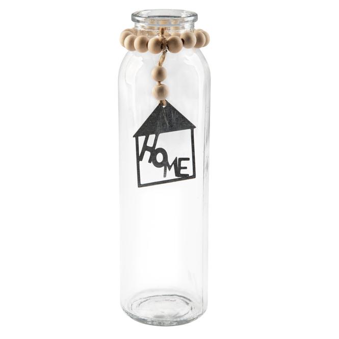 Vase - aus Glas - ca. 5,5 x 5,5 x 19,5 cm - 1 Stück