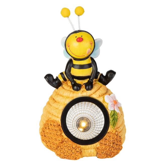 LED-Solarlampe - Biene - aus Keramik - ca. 13,5 x 13,5 x 18,5 cm