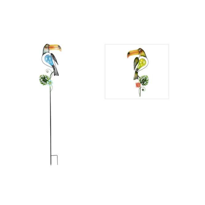 Solar-Pflanzenstecker - Tukan - ca. 19 x 118 cm - 1 Stück
