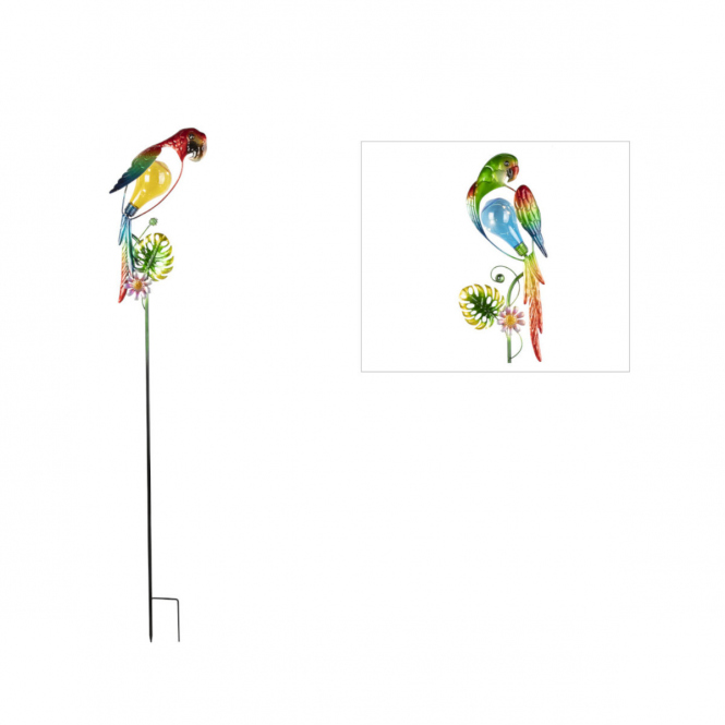 Solar-Pflanzenstecker - Papagei - ca. 19 x 117 cm - 1 Stück