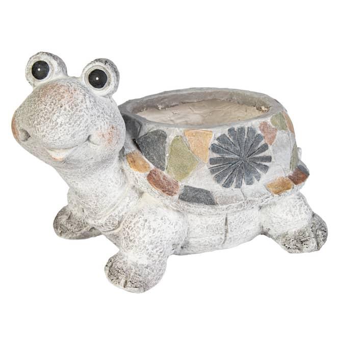 Pflanzgefäß - Schildkröte - aus Magnesia - ca. 34,5 x 24 x 23 cm
