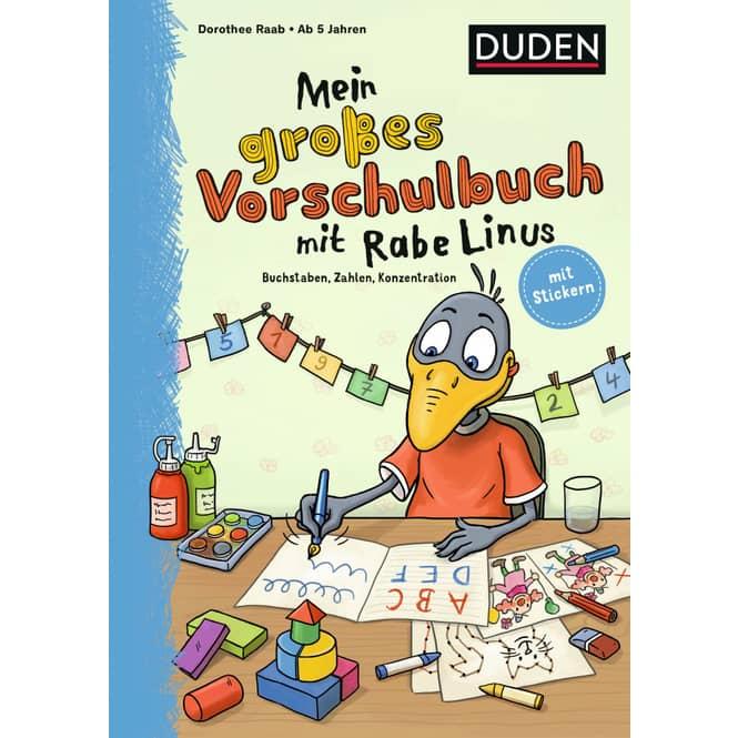 Duden - Mein großes Vorschulbuch mit Rabe Linus - Buchstaben, Zahlen, Konzentration