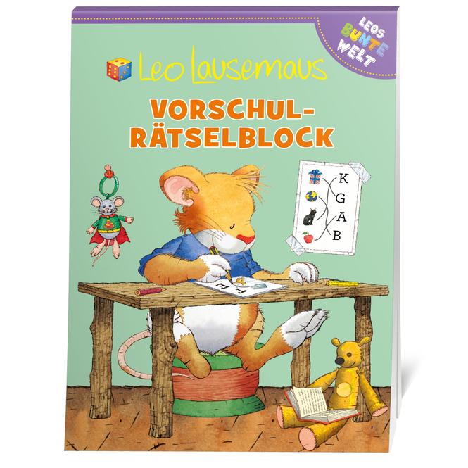 Leo Lausemaus - Vorschul-Rätselblock