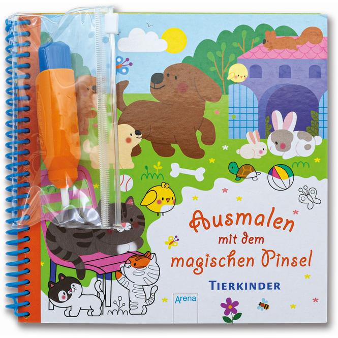Ausmalen mit dem magischen Pinsel - Tierkinder