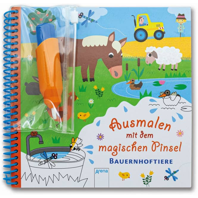 Ausmalen mit dem magischen Pinsel - Bauernhoftiere