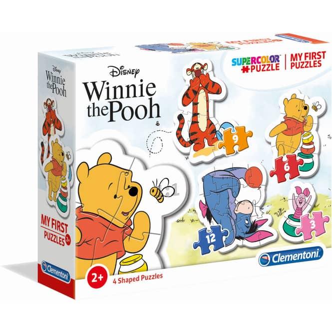 Winnie Pooh - Kinderpuzzle Set - 3+6+9+12 Teile - Supercolor