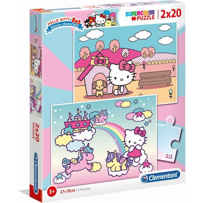 Hello Kitty - Kinderpuzzle Set - 2x 20 Teile - Supercolor