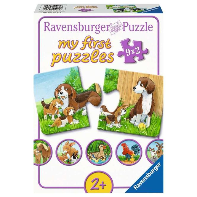 Puzzle - Tierfamilien auf dem Bauernhof