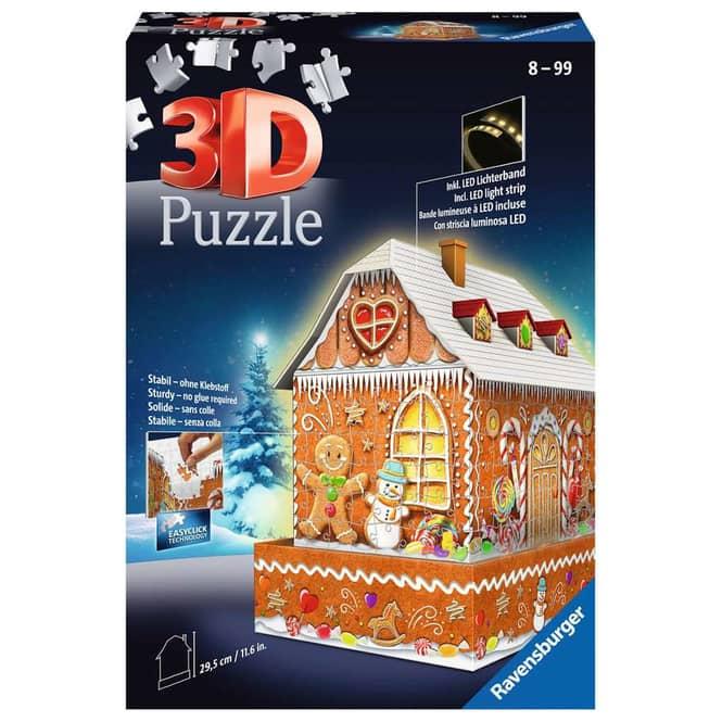 3D Puzzle - Lebkuchenhaus bei Nacht - 216 Teile