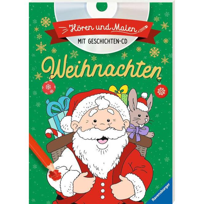 Hören und Malen - Weihnachten - mit Geschichten-CD