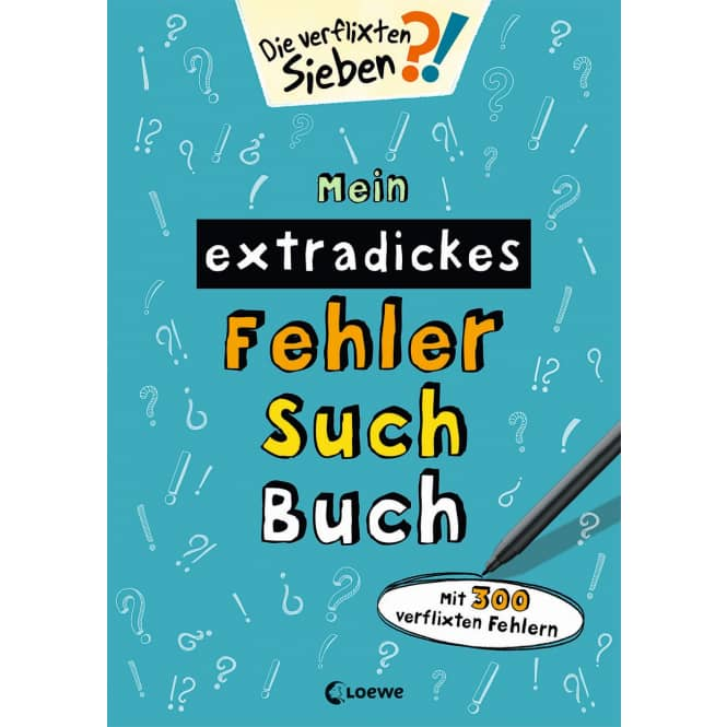 Mein extradickes Fehler-Such-Buch - Die verflixten Sieben
