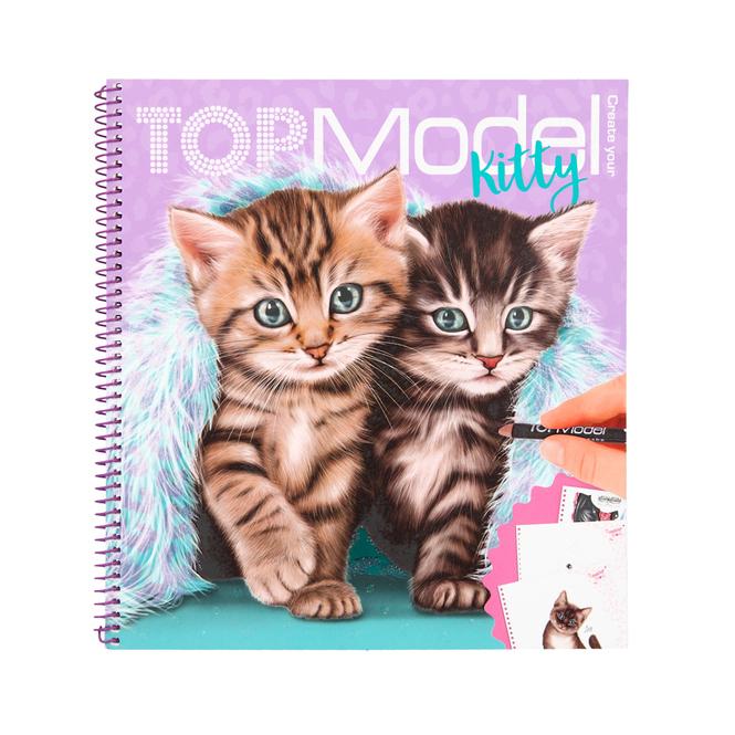 TOP Model - Malbuch - Kitty
