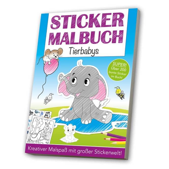 Sticker Malbuch - Tierbabys