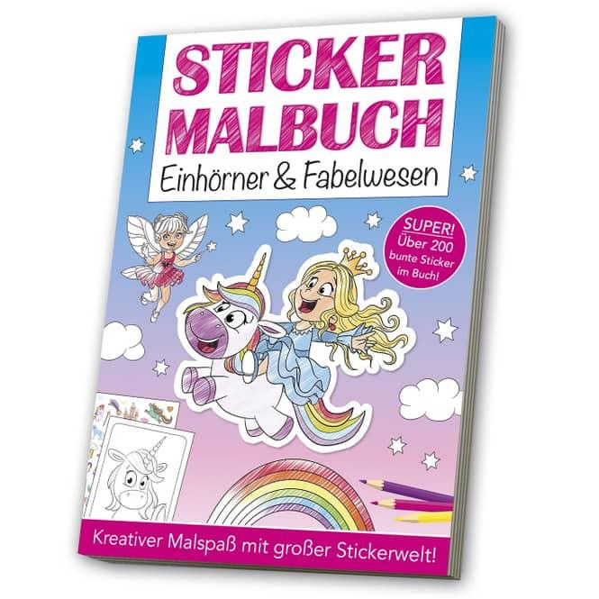 Sticker Malbuch - Einhörner & Fabelwesen