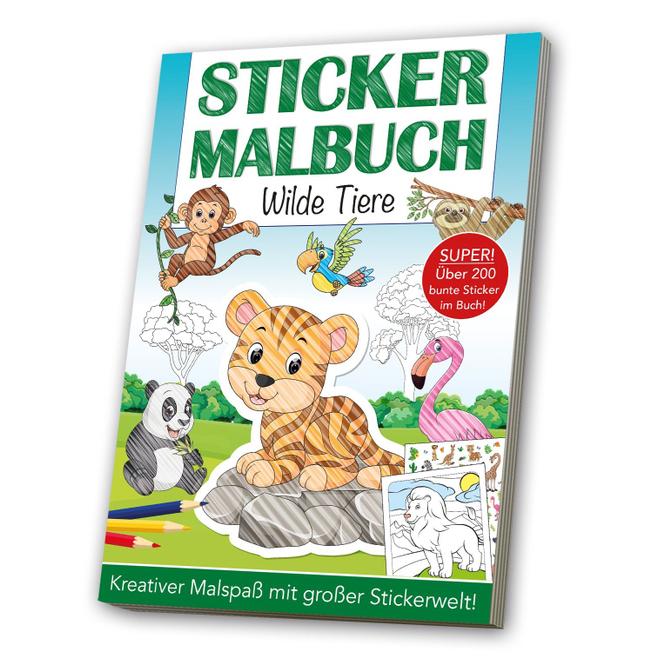 Sticker Malbuch - Wilde Tiere