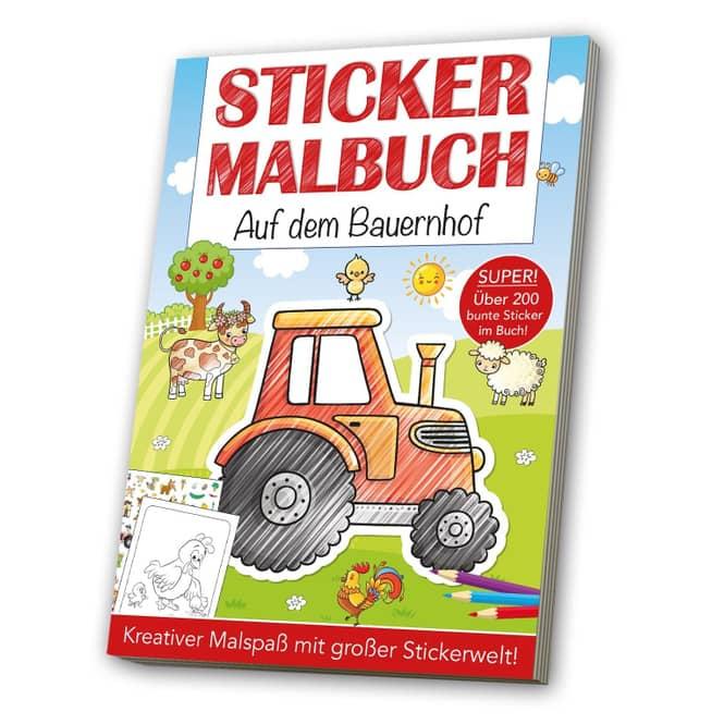 Sticker Malbuch - Auf dem Bauernhof