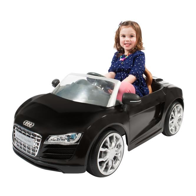 Kinder-Elektrofahrzeug - Audi R8 Cabrio - schwarz