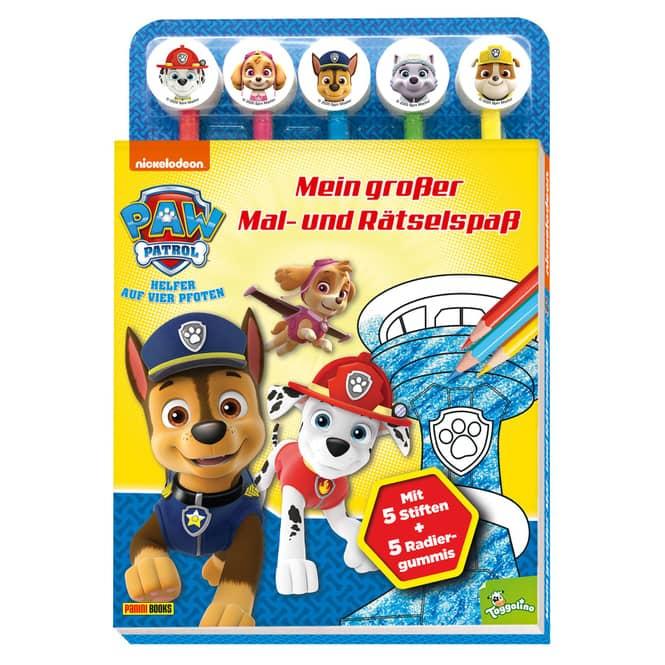 PAW Patrol - Mein großer Mal- und Rätselspaß - mit 5 Stiften und 5 Radiergummis