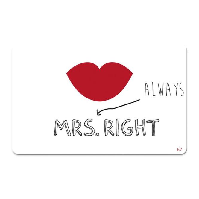 Pocketcard - Mrs. always Right