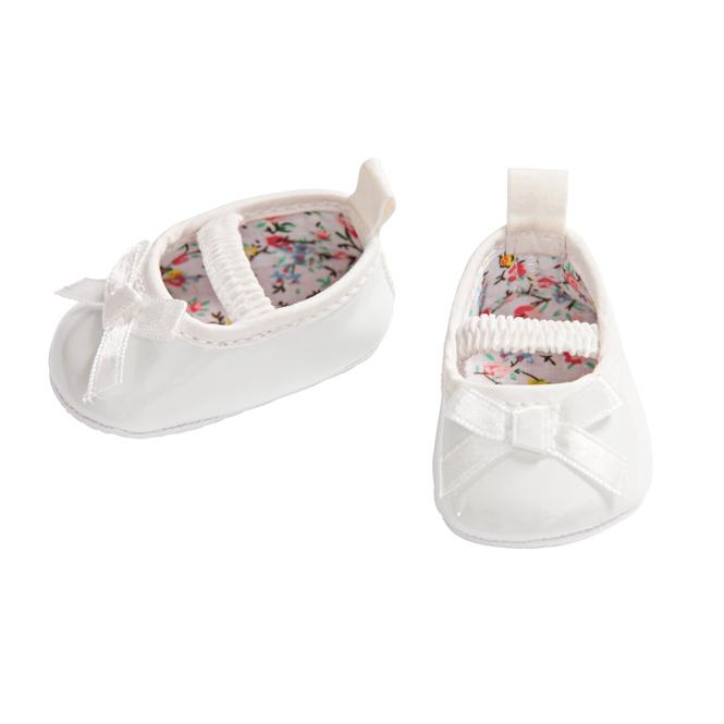 Puppenballerinas - weiß - Größe 38 - 45 cm