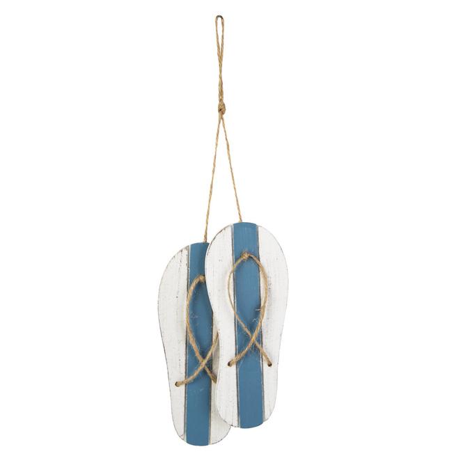 Dekohänger - Flip-Flops - aus Holz - ca. 12 x 0,5 x 15 cm