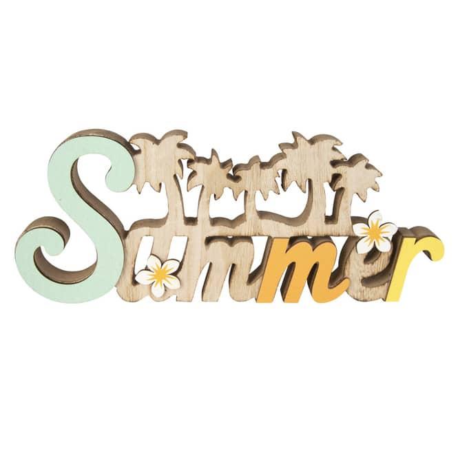 Deko-Schriftzug - Summer - aus Holz - ca. 30,5 x 2 x 12,5 cm