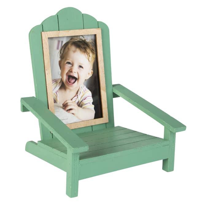 Bilderrahmen - Stuhl - aus Holz - ca. 19 x 18,5 x 23 cm