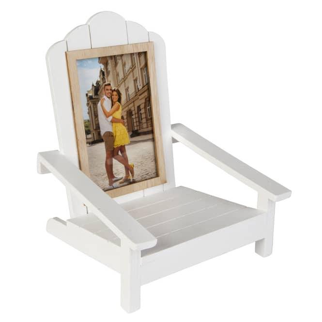 Bilderrahmen - Stuhl - aus Holz - ca. 19 x 18 x 23 cm