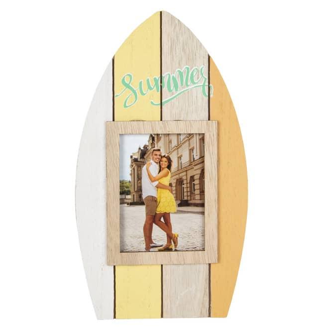 Bilderrahmen - Surfbrett - aus Holz - ca. 13 x 1 x 23,5 cm