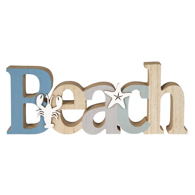Deko-Schriftzug - Beach - aus Holz - ca. 30 x 2 x 12,5 cm