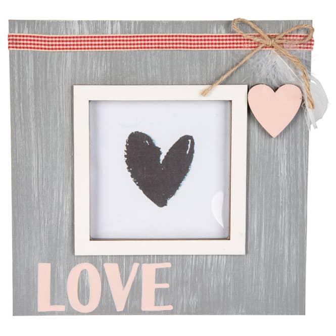 Bilderrahmen - Love - aus Holz - ca. 19 x 19 cm