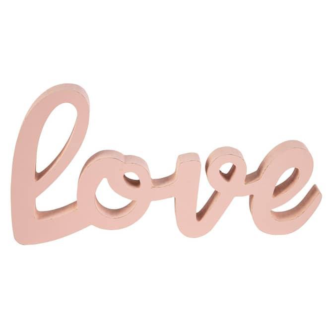 Deko-Schriftzug - Love - aus Holz - ca. 28,5 x 2 x 15,5 cm