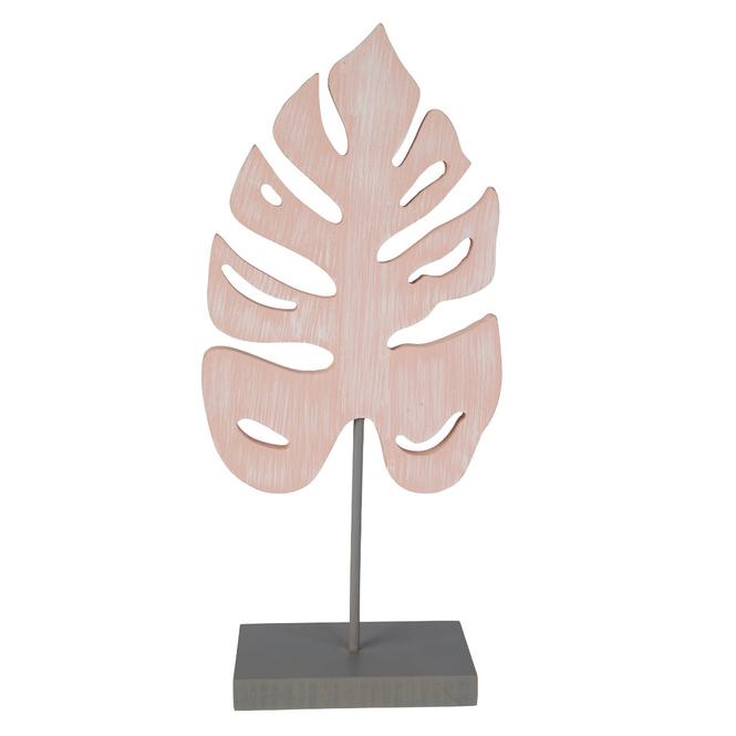 Standdeko - Blatt - aus Holz - ca. 13,5 x 6 x 30 cm