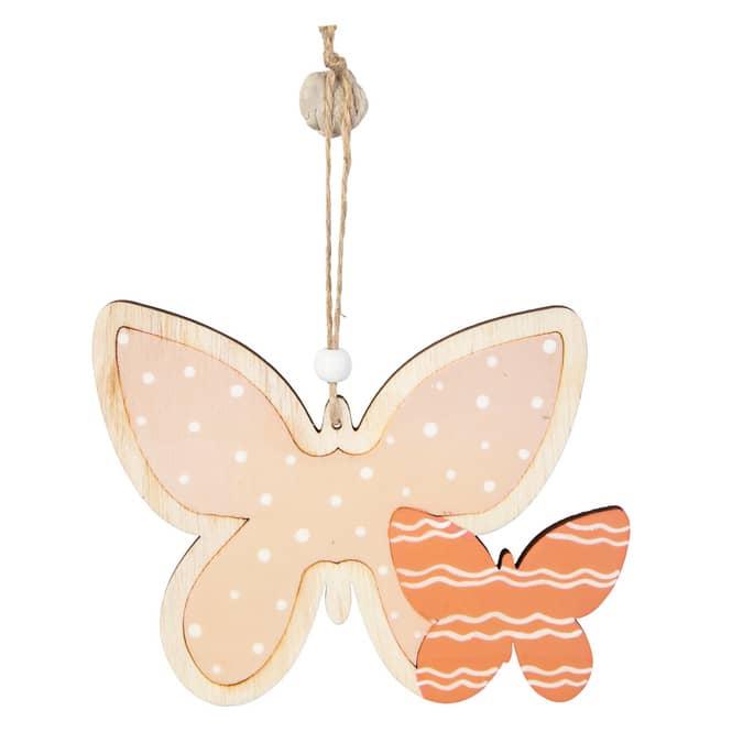 Dekohänger - Schmetterlinge - aus Holz - ca. 18 x 14,5 cm
