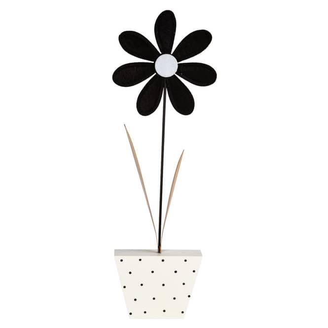 Standdeko - Blume - ca. 14,5 x 3 x 51,5 cm