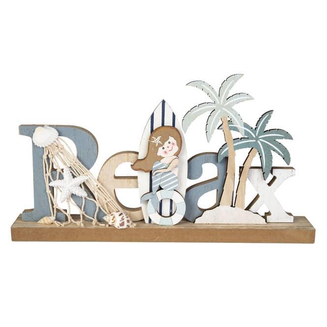 Deko-Schriftzug - Relax - aus Holz - ca. 30 x 4 x 15,5 cm