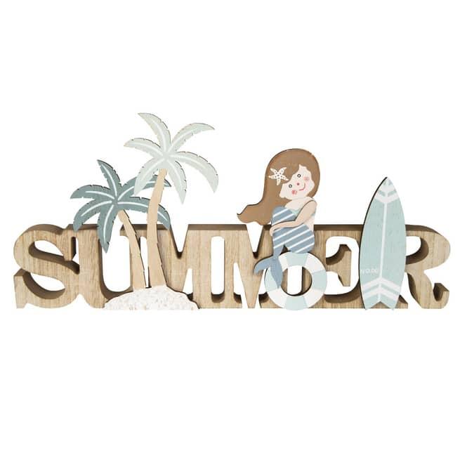 Deko-Schriftzug - Summer - aus Holz - ca. 40 x 2,5 x 18 cm