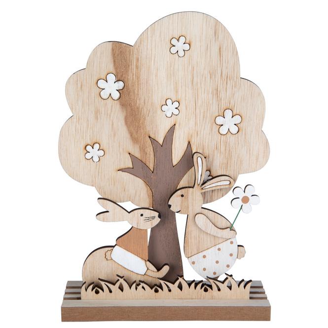 Dekobaum - aus Holz - ca. 16 x 5 x 23,5 cm