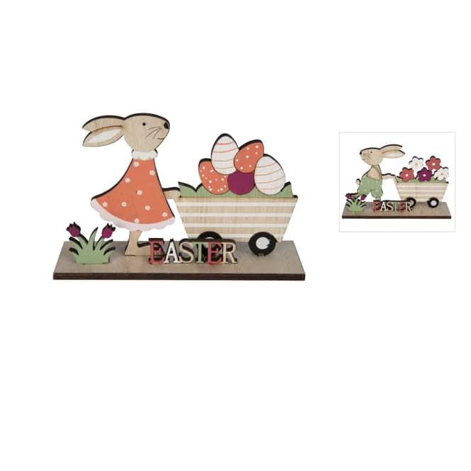 Dekohase - aus Holz - ca. 15 x 4,5 x 9,5 cm - 1 Stück