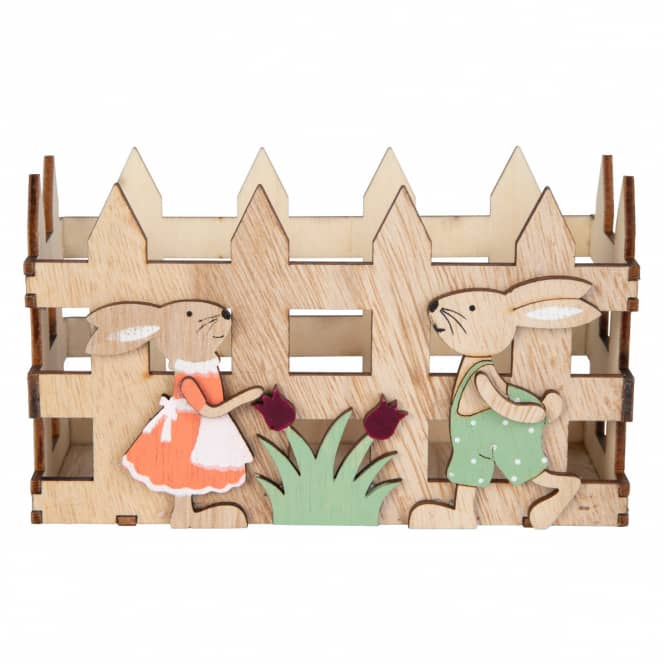 Osterkörbchen - aus Holz - ca. 15,5 x 7 x 9 cm