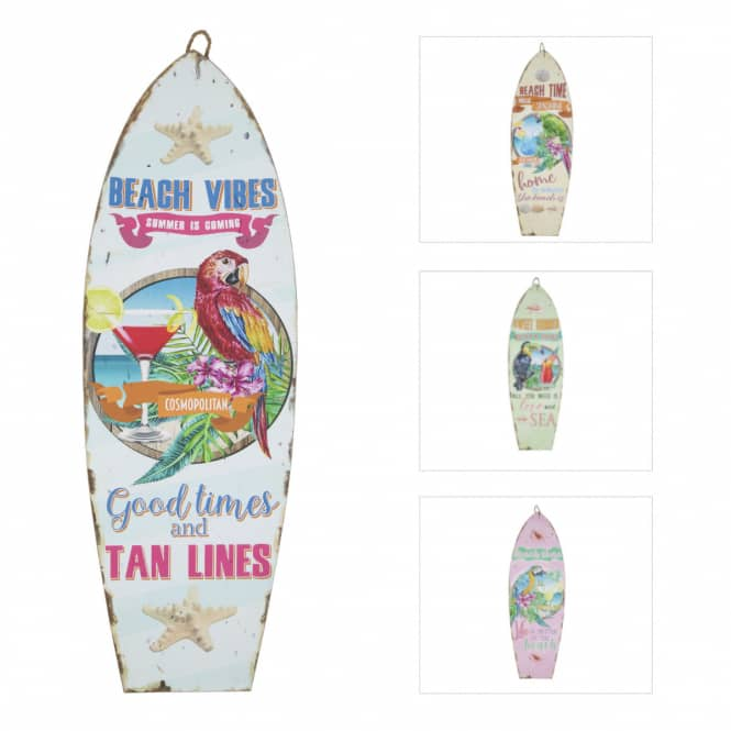 Wanddeko - Surfbrett - aus Holz - ca. 20 x 60 cm - 1 Stück
