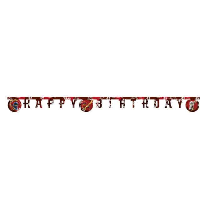 Lego Ninjago - Happy Birthday Banner
