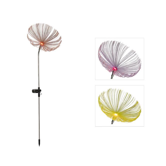 LED-Solarstecker - Blume - ca. 19 x 84 cm - 1 Stück