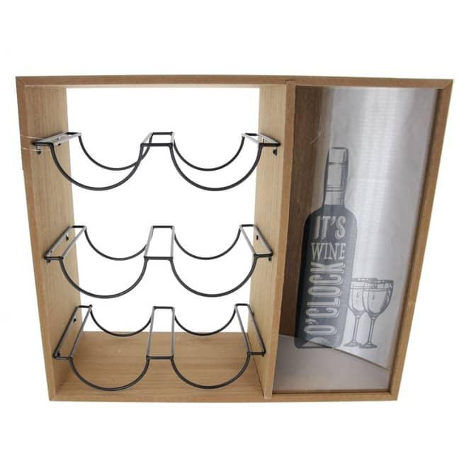 Weinflaschenhalter - aus Holz - ca. 40 x 15 x 35 cm