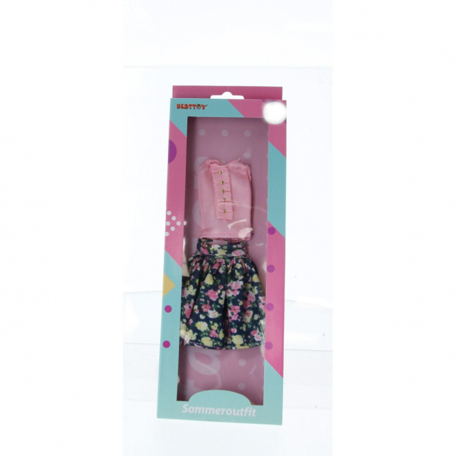 Besttoy - Modepuppenkleidung - Sommeroutfit - Rock und Bluse